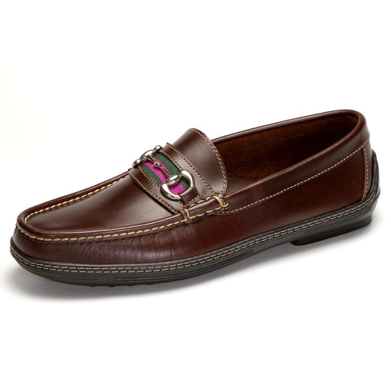 Handsewn Shoe Co. Bit Stripe Driver Dark Brown Image