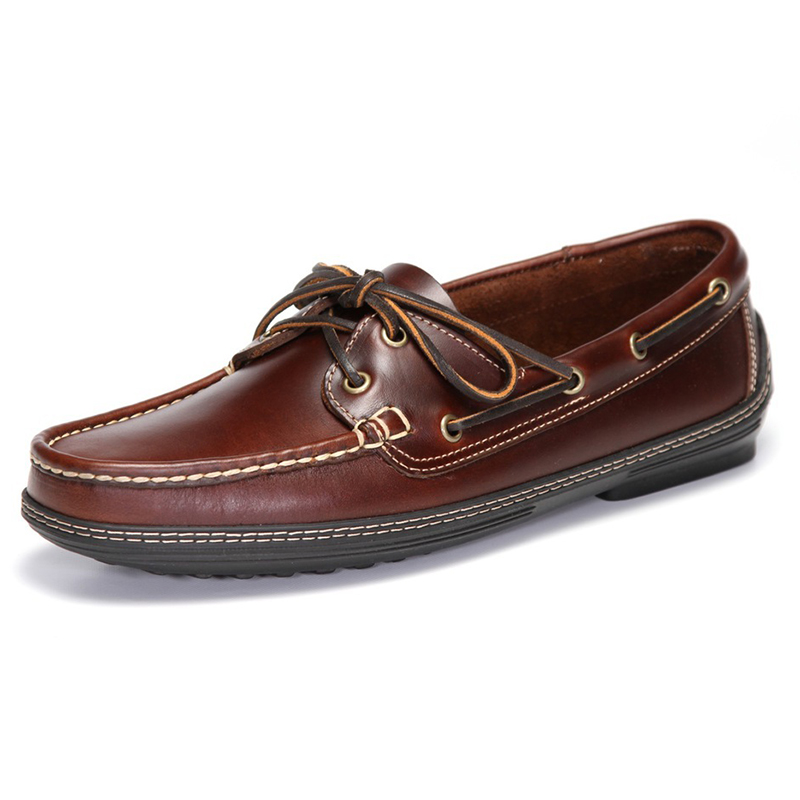 Handsewn Shoe Co. Boat Driver Dark Brown Image
