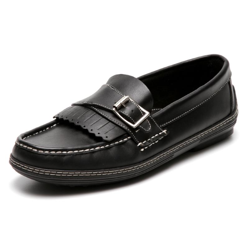 Handsewn Shoe Co. Fringe Monk Drivers Black Image