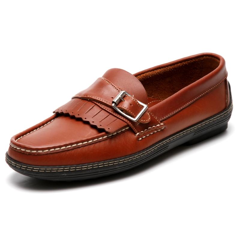 Handsewn Shoe Co. Fringe Monk Drivers Brown Image