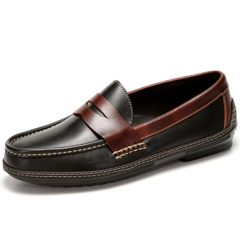 Handsewn Shoe Co. Penny Driver Black / Brown Image
