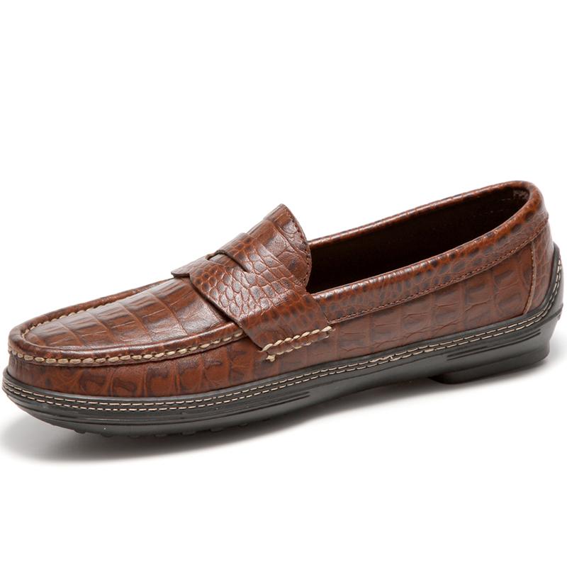Handsewn Shoe Co. Penny Driver Croco Image