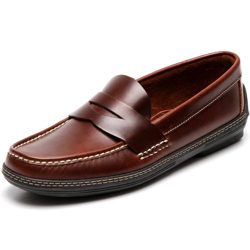 Handsewn Shoe Co. Penny Driver Dark Brown Image