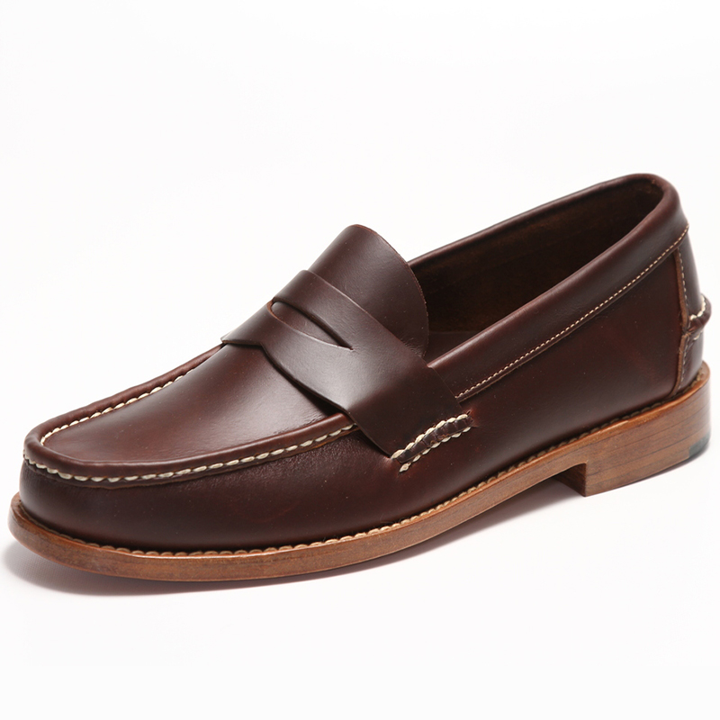 Handsewn Shoe Co. Penny Loafer Dark Brown Image