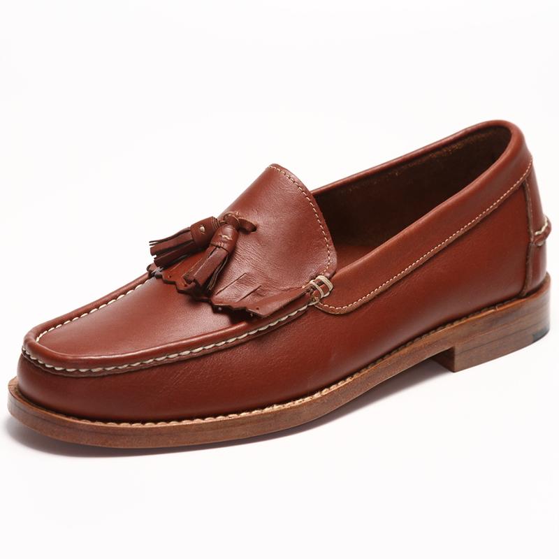 Handsewn Shoe Co. Tassel Kilt Loafer Brown Image