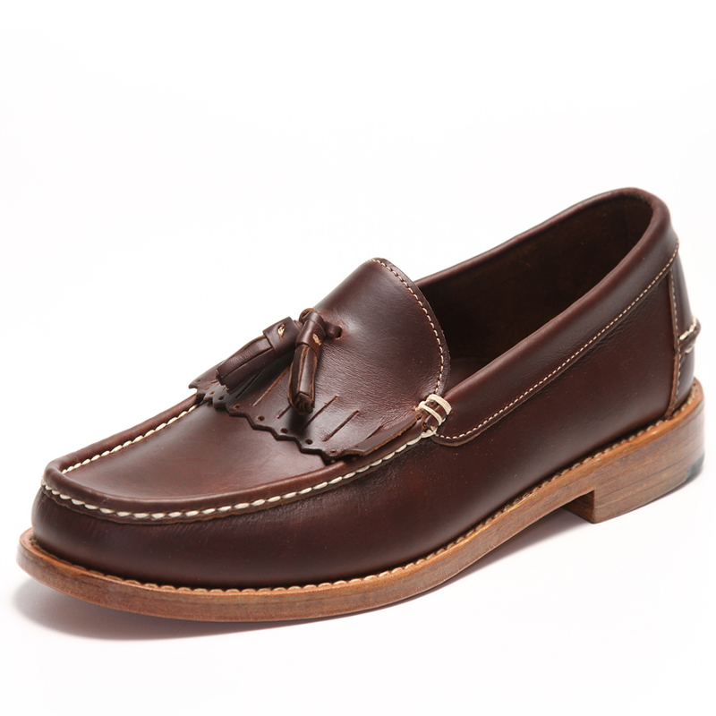 Handsewn Shoe Co. Tassel Kilt Loafer Dark Brown Image