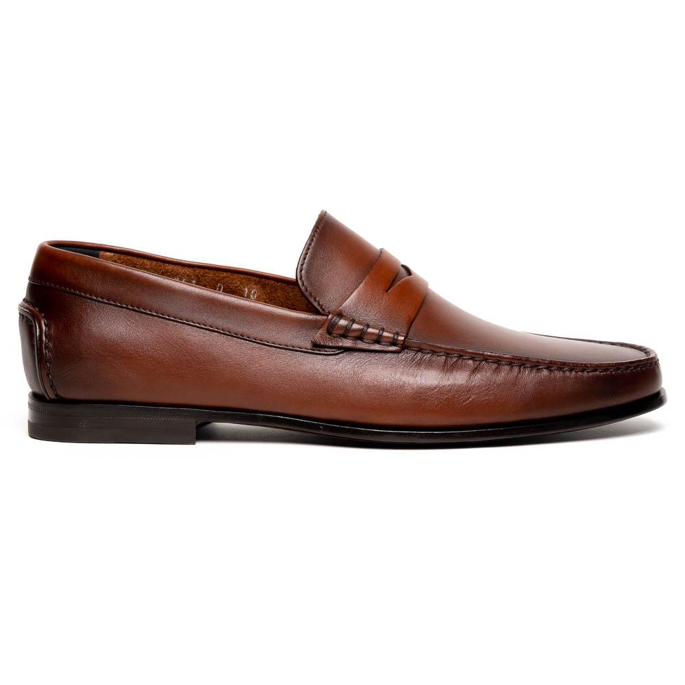 Santoni Ikangia U1 Penny Loafer Shoes Brown Image