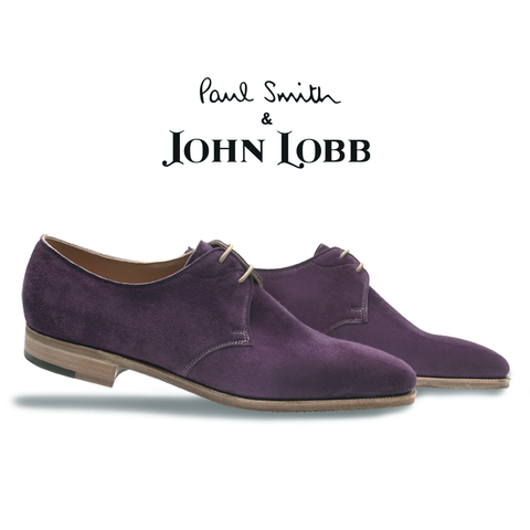John Lobb Willoughy Suede Derby Shoes Purple Image