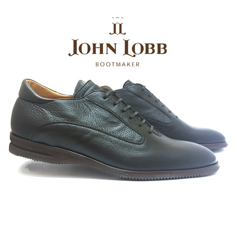 John Lobb Winner Calfskin Sport Shoes Black Image