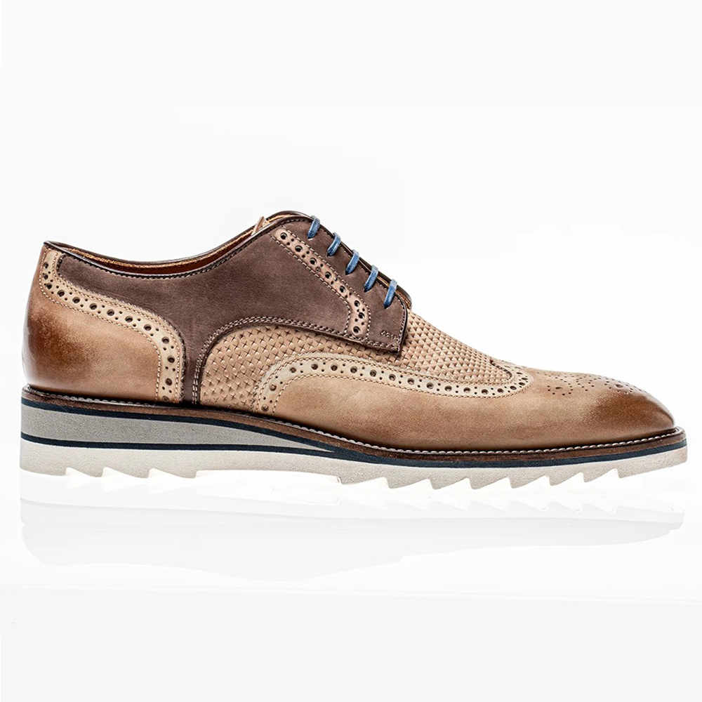Jose Real Amberes Lace Up Sport Derby Nubuck Nuts Faggio Image