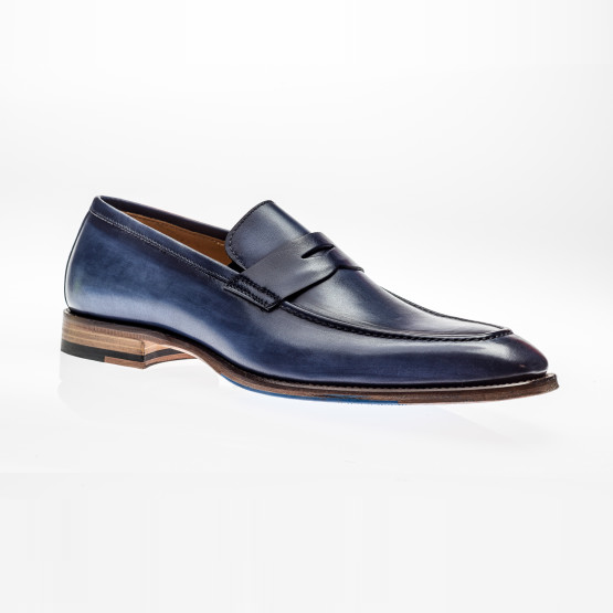 Jose Real Amberes Penny Loafers Deep Blue Image