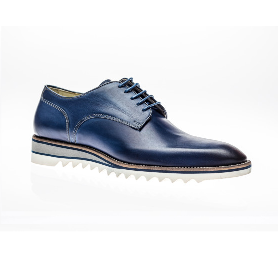 Jose Real Amberes Sport Derby Shoes Navy Image