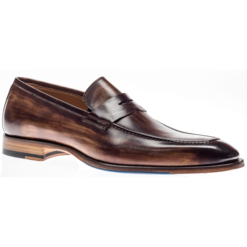 Jose Real H605 Penny Loafers Slavato Cuoio Image