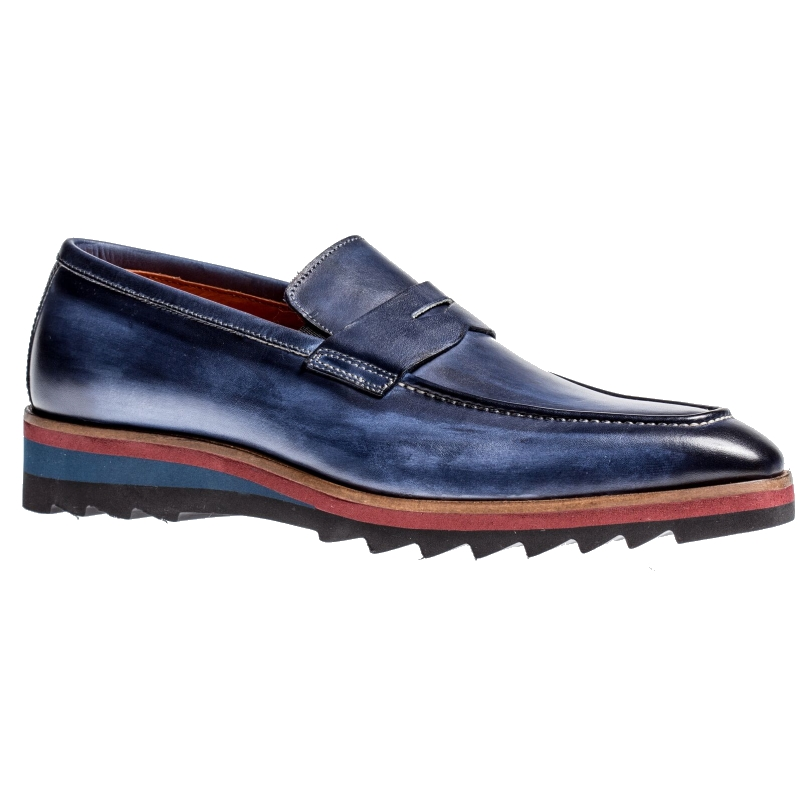 Jose Real H605-Z Penny Loafers Deep Blue Image