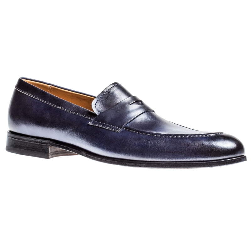 Jose Real M208 Penny Loafers Deep Blue Image