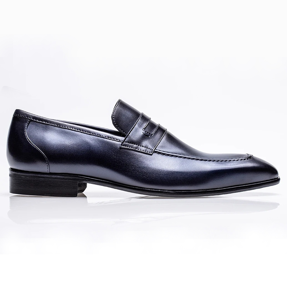 Jose Real Mastrich Penny Loafers Marino Blue Image