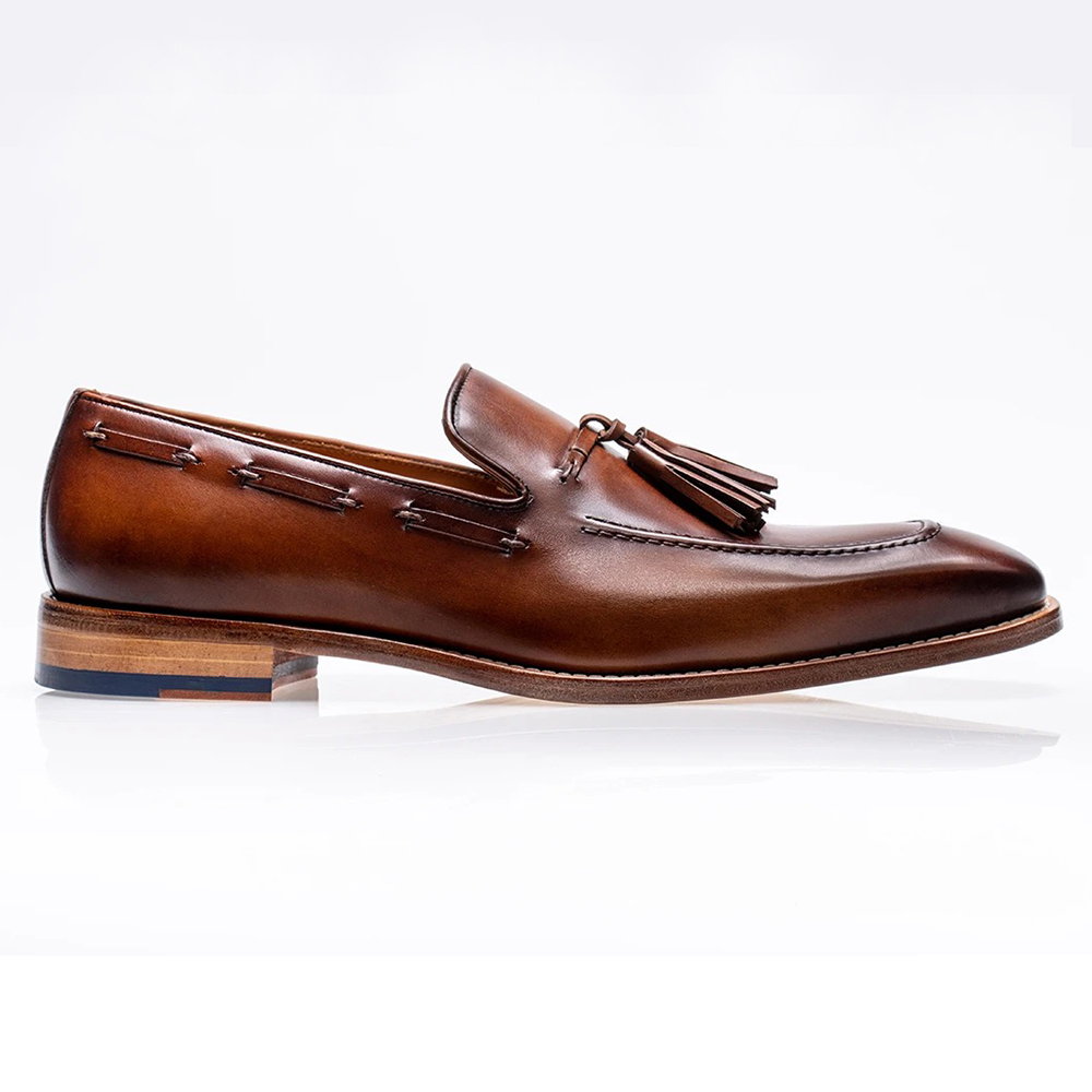 Jose Real Mastrich Slip On Tassel Loafers Brown Image