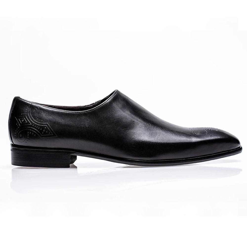 Jose Real Mastrich Wholecut Slip On Shoes Black Image