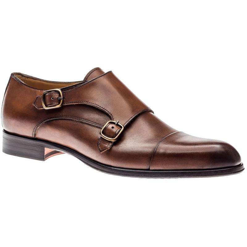 Jose Real T617 Monk Strap Shoes Cognac Image