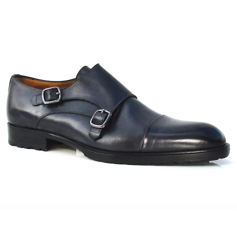 black double monk shoes