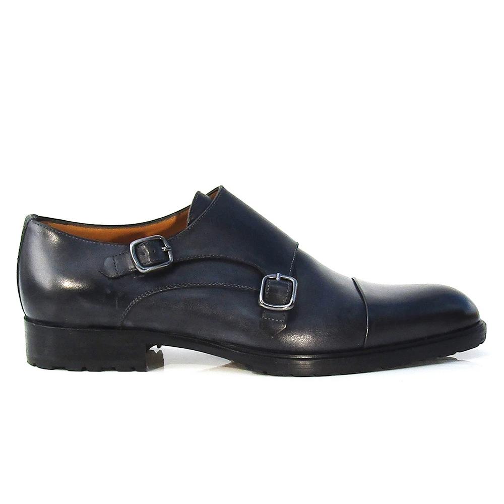 Jose Real Teatriz Double Monk Shoes Black Image