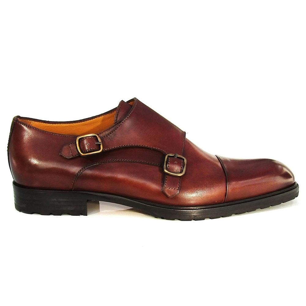 Jose Real Teatriz Double Monk Shoes Dark Brown Image