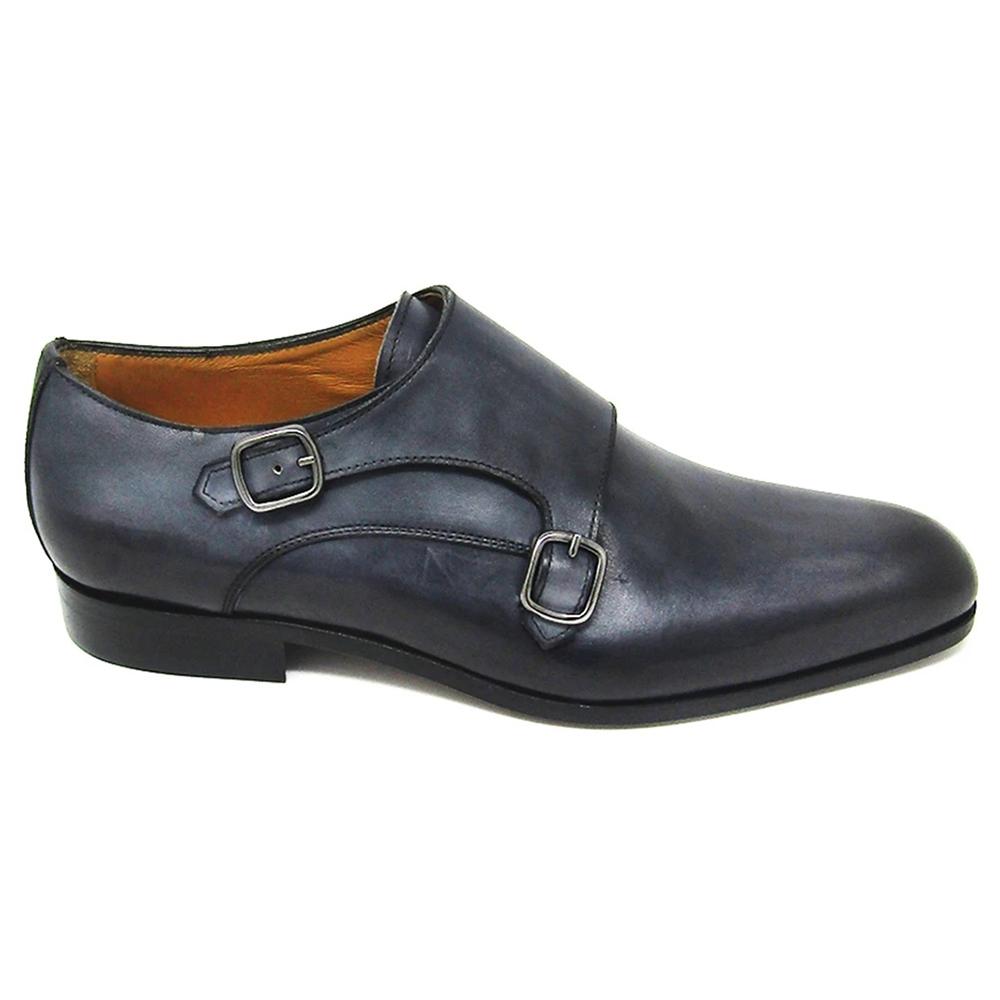 Jose Real Teatriz Plain Double Monk Shoes Crust Antracite Image
