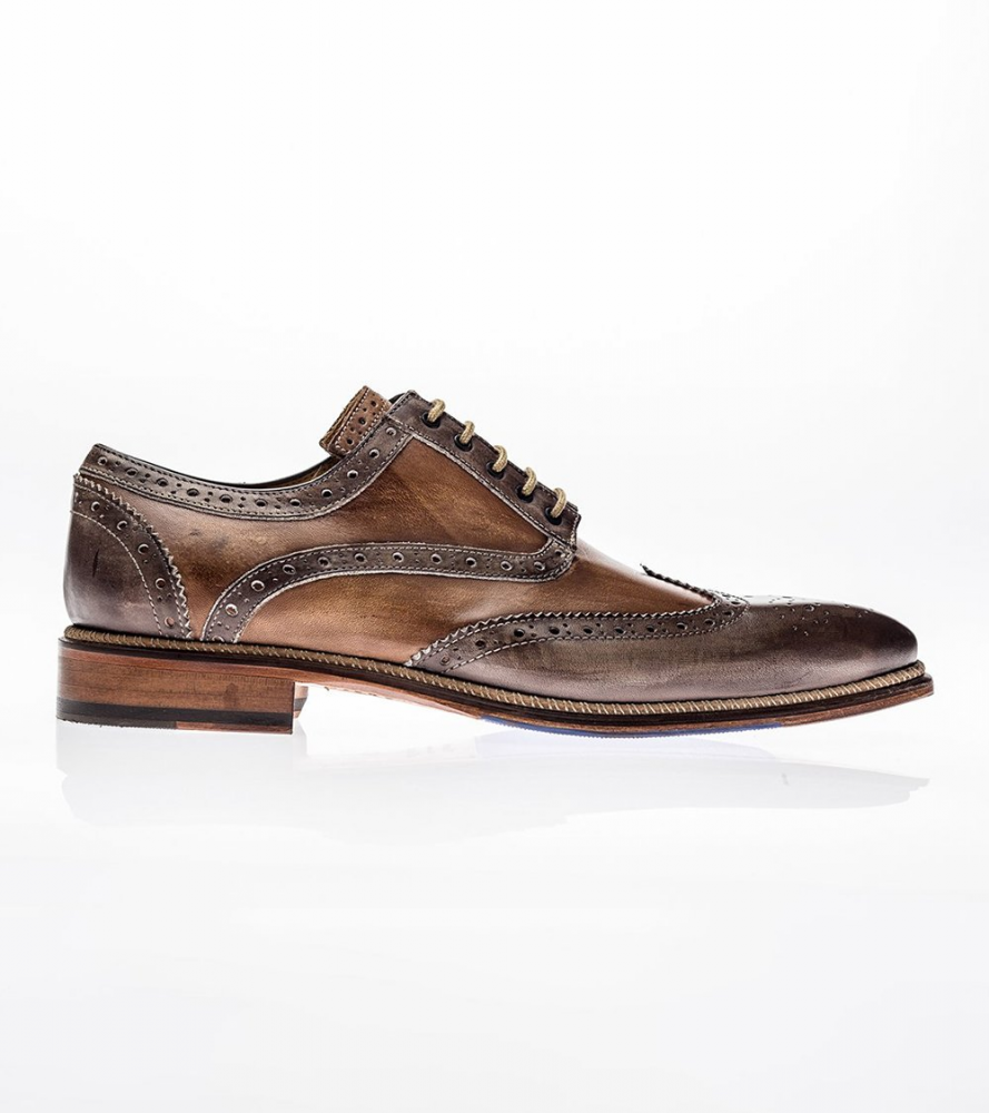 Jose Real Veloce Wingtip Shoes Cafe Cuoio Image