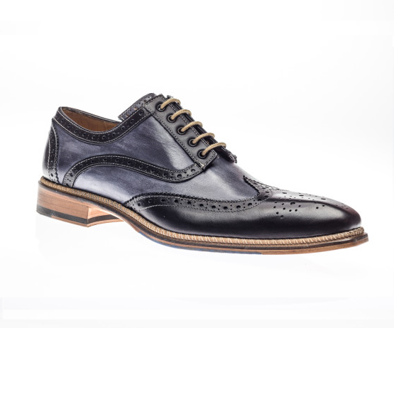Jose Real Veloce Wingtip Spectator Shoes Black / Antracite Image