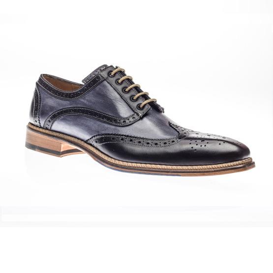 Jose Real Veloce Wingtip Spectator Shoes Black / Antracite Image