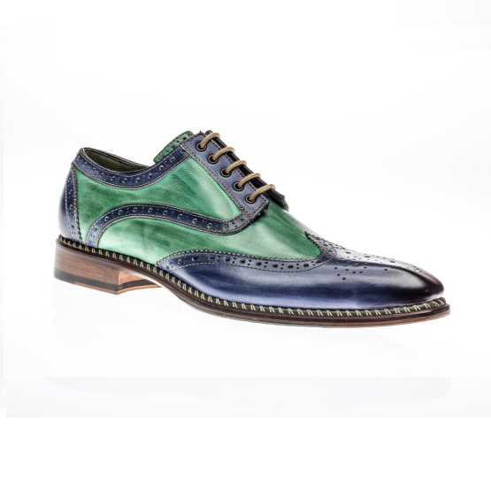 Jose Real Veloce Wingtip Spectator Shoes Jeans / Verde Image
