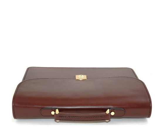 Mens Leather Document Case Leather Havana Document Case