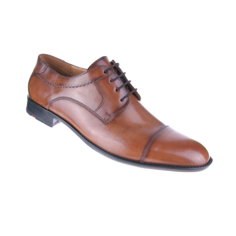 Cap Toe Orange Mens Casual Shoe