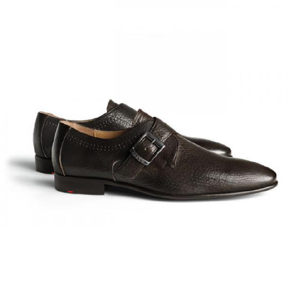 Lloyd Jerome Textured Calfskin Monk Strap Shoes TD Moro Image