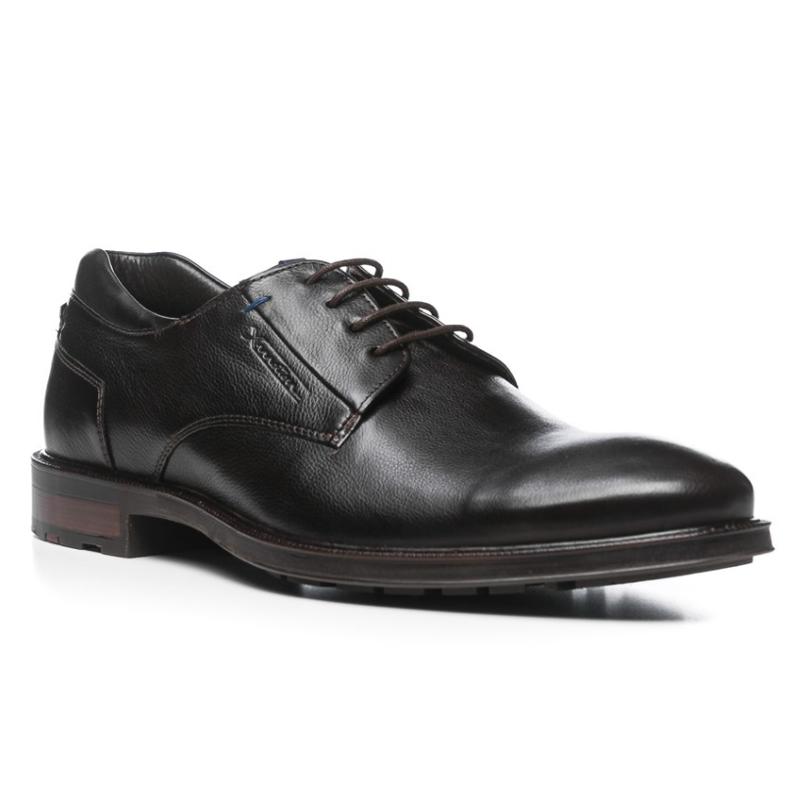 Lloyd Mare Pebble Grain Shoes Dark Brown Image