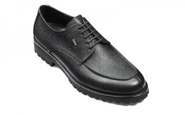 Lloyd Valdez Pebble Grain Split Toe Gore-Tex Shoes Black Image