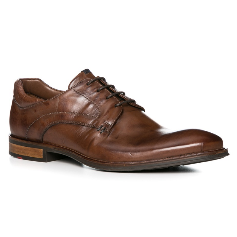 Lloyd Milan Lace Up Shoes Cognac Image