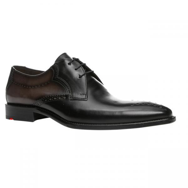 Lloyd Palma Punch Toe Derby Shoes Black/Graphite Image