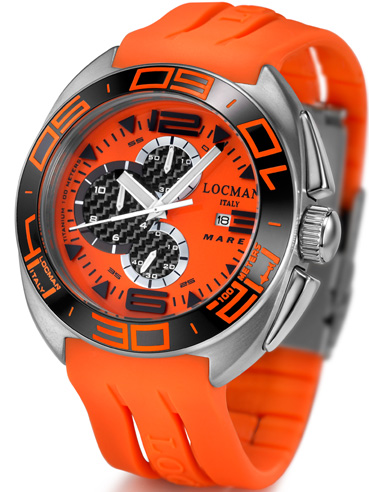 Locman Mens Mare Chrono Titanium Water Resistant Watch