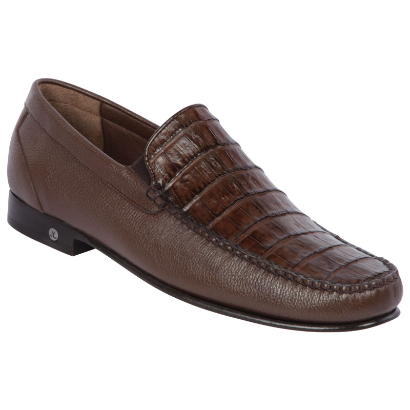 Lombardy Caiman Belly & Calfskin Loafers Brown Image