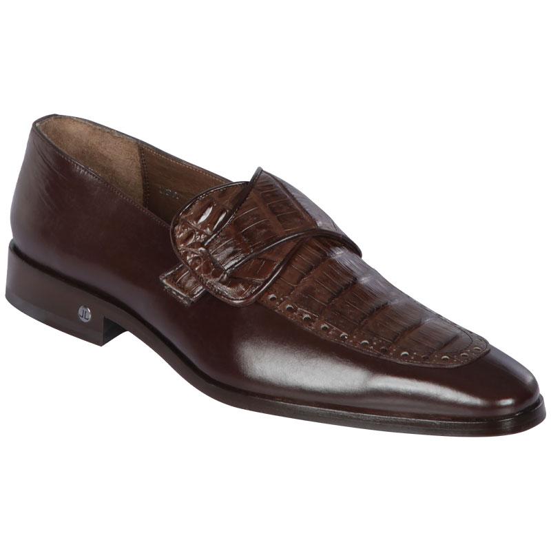 Lombardy Caiman Belly & Calfskin Monkstrap Dress Shoe Brown Image
