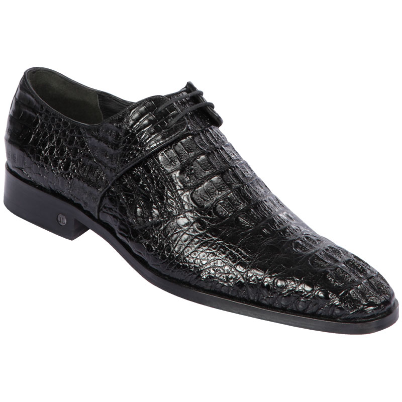 Lombardy Caiman Hornback Dress Shoes Black Image