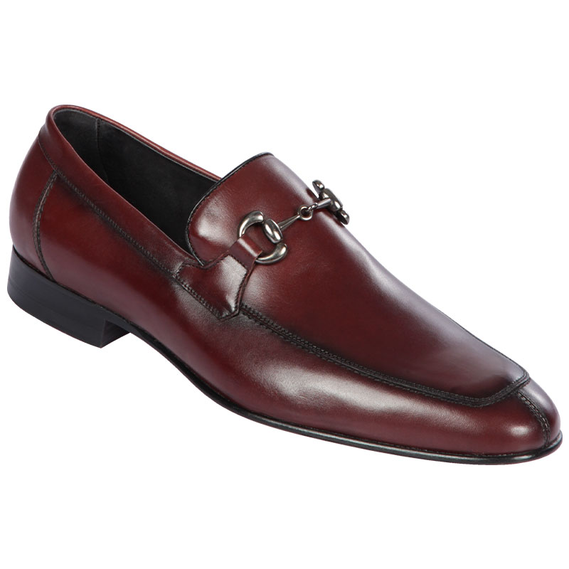 Lombardy Calf Leather Bit Loafers Faded Burgundy Image