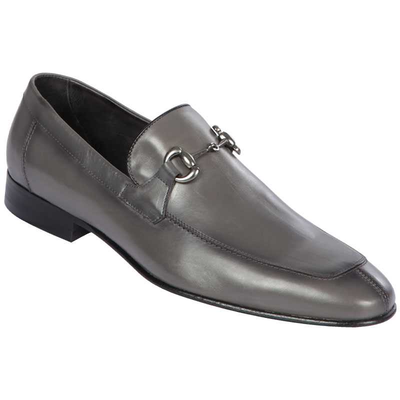 Lombardy Calf Leather Bit Loafers Faded Gray Image