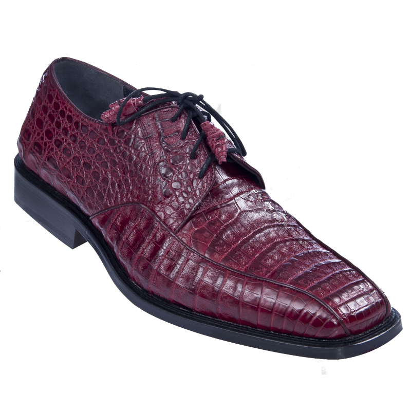 Los Altos Caiman Belly Bicycle Toe Shoes Burgundy Image