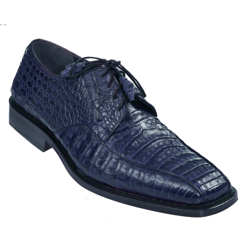 Los Altos Caiman Belly Bicycle Toe Shoes Navy Blue Image