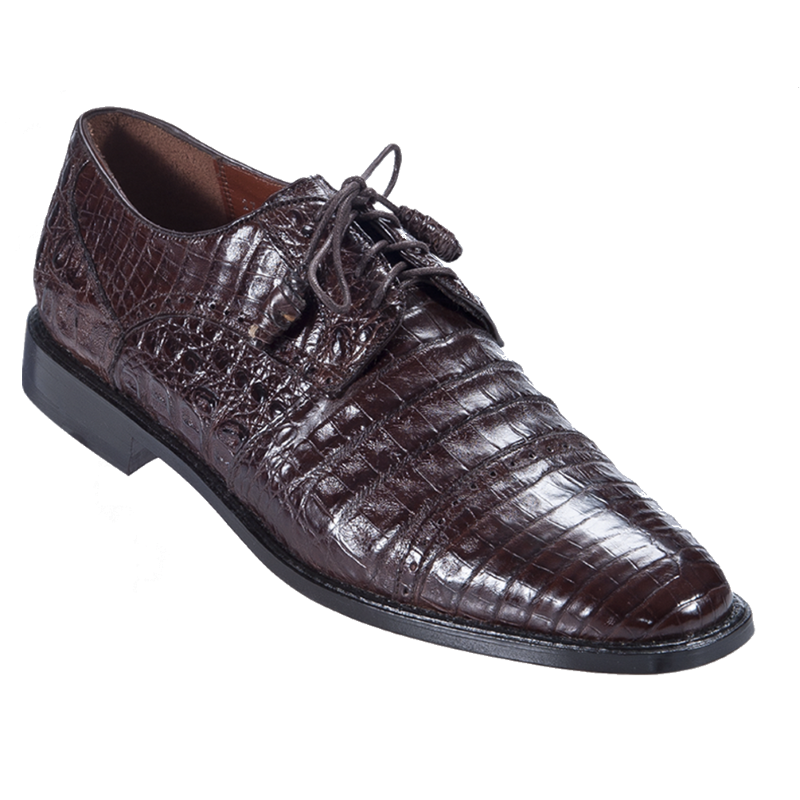Los Altos Caiman Belly Cap Toe Shoes Brown Image