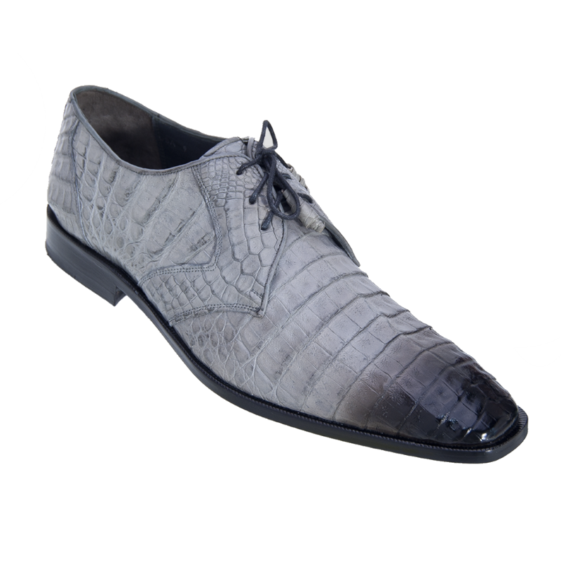 Los Altos Caiman Belly Derby Shoes Faded Gray Image