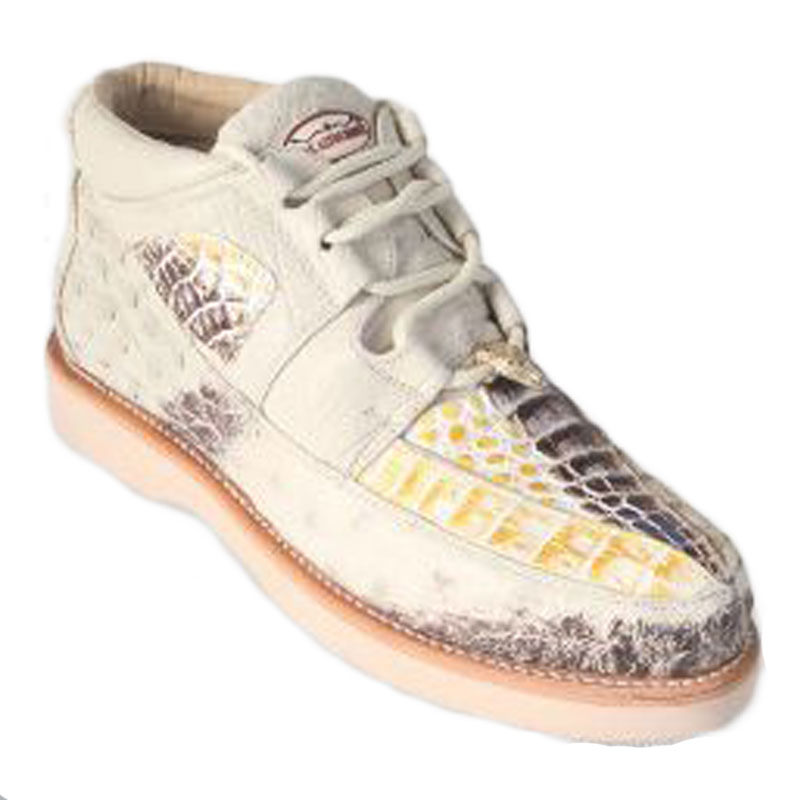 Los Altos Caiman Belly & Ostrich Casual Shoes Natural Image