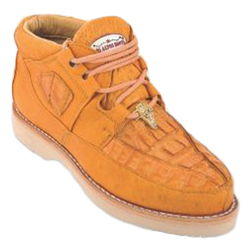Los Altos Caiman Belly & Smooth Ostrich Shoes Buttercup Image